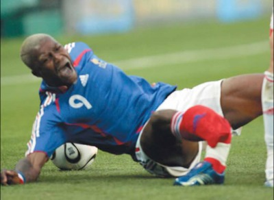 Djibril Cisse leg break